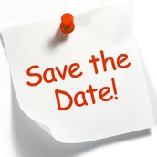 SAVE THE DATE!   Upcoming Events