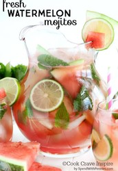 Fresh Watermelon Mojitos!