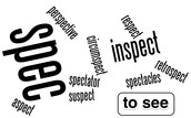 SPEC-, SPIC-, Word Part of the Week (to see)