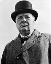 Winston Churchill a brave historical figure
