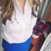 Azure Tassel Necklace- Versatile Style 1