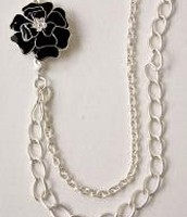 La Coco Brooch & Necklace-Silver