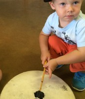 Landon enjoyed his first music workshop