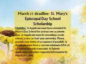 St. Mary's Episcopal March 21st