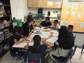 Mrs. McCasland leads small group instruction!