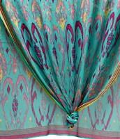 Turquoise Ikat scarf