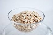 An ounce of oats.
