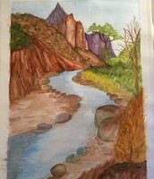 Purple Mountains Majesty-Watercolor