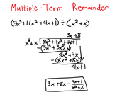 Long Division w/ Multiple-Term Remainder