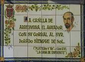 Mosaico dedicado a Juan Ramón.