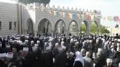 صوة لمشايخ من مختلف البلاد الدرزية في  مقام النبي الخضر ع بمناسبة الزيارة السنوية
