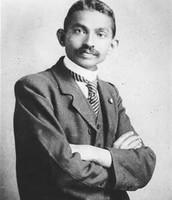 Mahatma Gandhi when he was in college