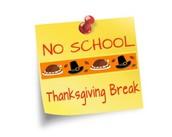 Wednesday, November 25, 2015 - Thanksgiving Holiday - No School