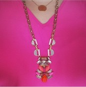 Pop Geo Nacklace--SOLD