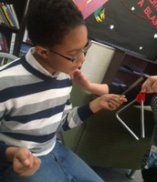 I think Ja'min's favorite class is . . . Music Therapy!