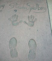 Stephen Speilbers Hand prints and footprints