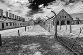 Alleyway between houses in Auschwitz