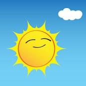 How hot is the sun on earth?