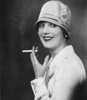 woman smoking in public