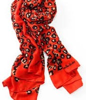 Wild Hearts Scarf, red and black