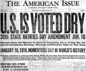 What is the Eighteenth Amendment?