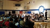 The band played to a full house