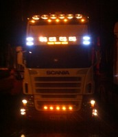 Customers Lorry at night