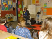 Local storyteller enthralls 3rd graders