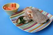 Garden Chicken Wraps(5-10mins)