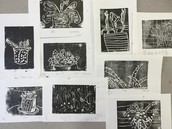 5th Grade Relief Prints