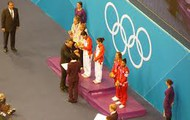 olympic medals being presented
