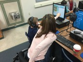2nd Graders at Hummel Getting Help from Mrs. Swanson