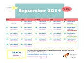 September 2014 Class Connect Lesson Calendar