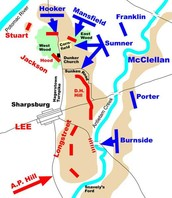 Battle map of Antietam