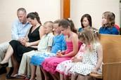 La familia en la iglesia
