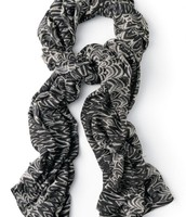 Painted Zebra Scarf $20