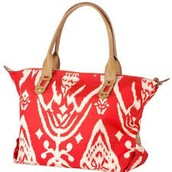 How Does She Do It Bag, red ikat