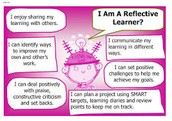 Do you encourage learners to be reflective and to review their own progress and set targets to improve?