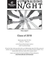 Class of 2018 Panera Fundraiser
