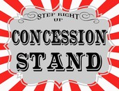 Concession Stand Volunteers Needed