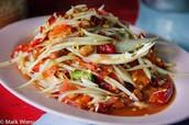 No me gusta la comida Thai.