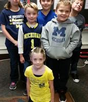 Team day:  Go Michigan!