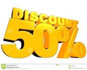 50% diccount