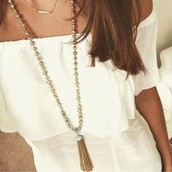 Milana tassel necklace $40