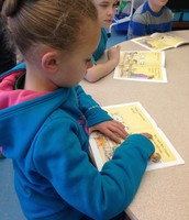 Olivia's tracking while reading.