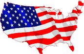Estados Unidos y la bandera de los Estados Unidos