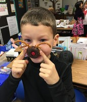 Even the red-nosed donut reindeer