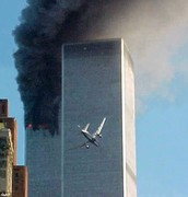 Second airplane crash to the twin towers