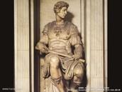 One of Michelangelos sculptures