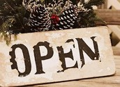 Days that we are open
